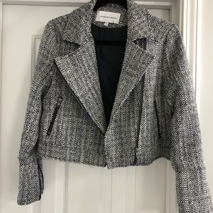 cupcakes and cashmere tweed moto jacket